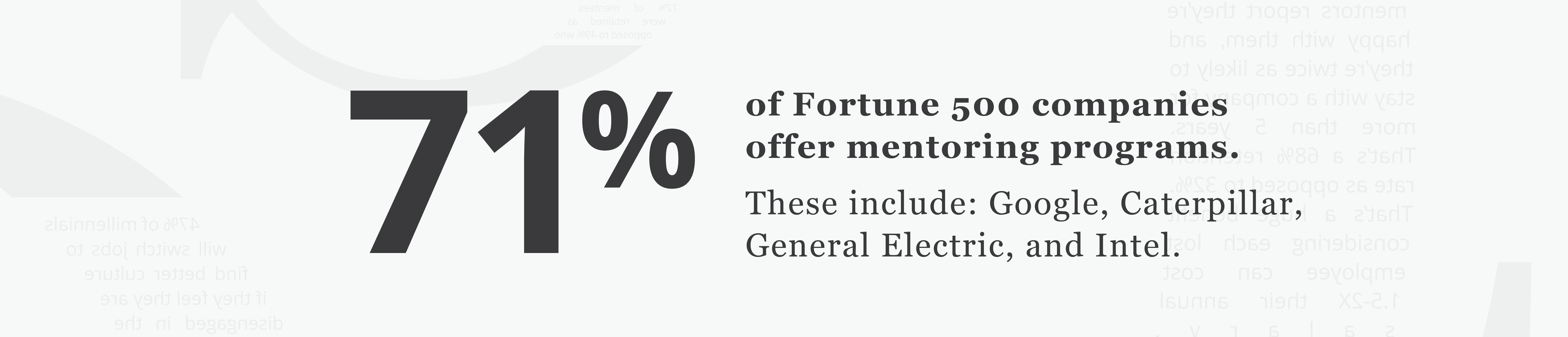 employee mentoring statistics