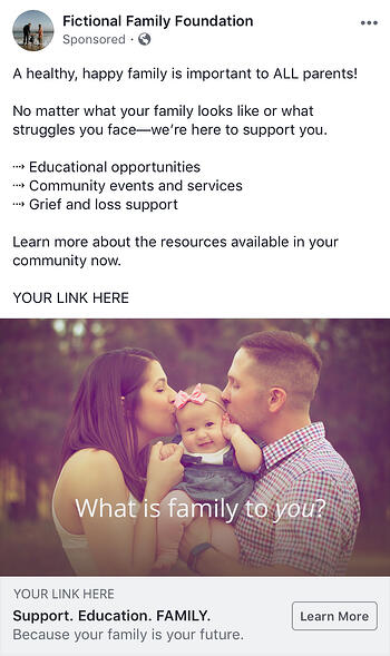 example church family campaign facebook ad